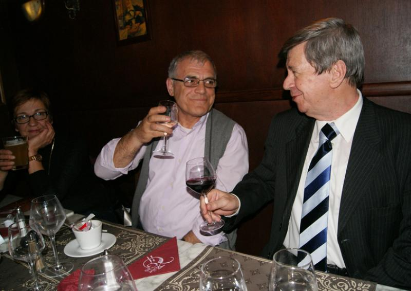 Atije, Milaim et Eduard Kukan