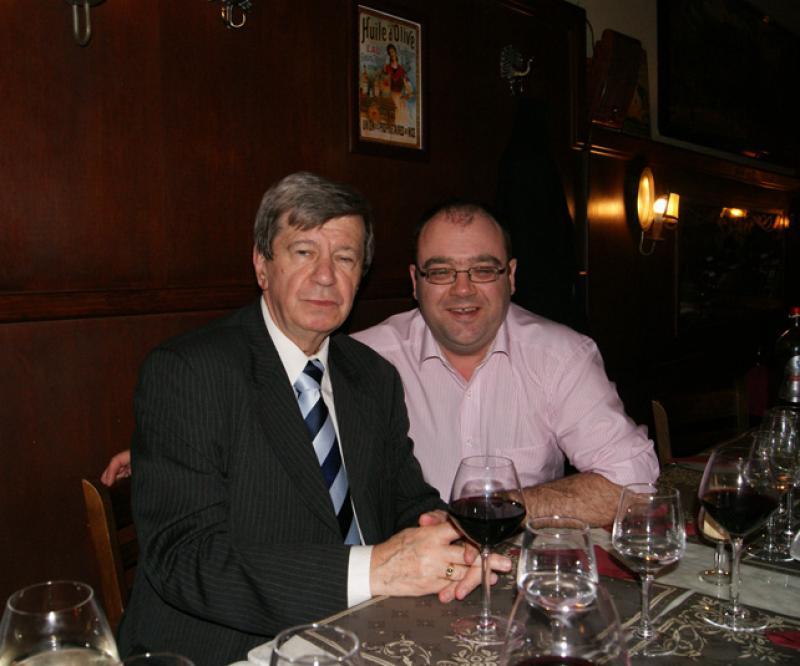 Eduard Kukan et Toni Lushnjari